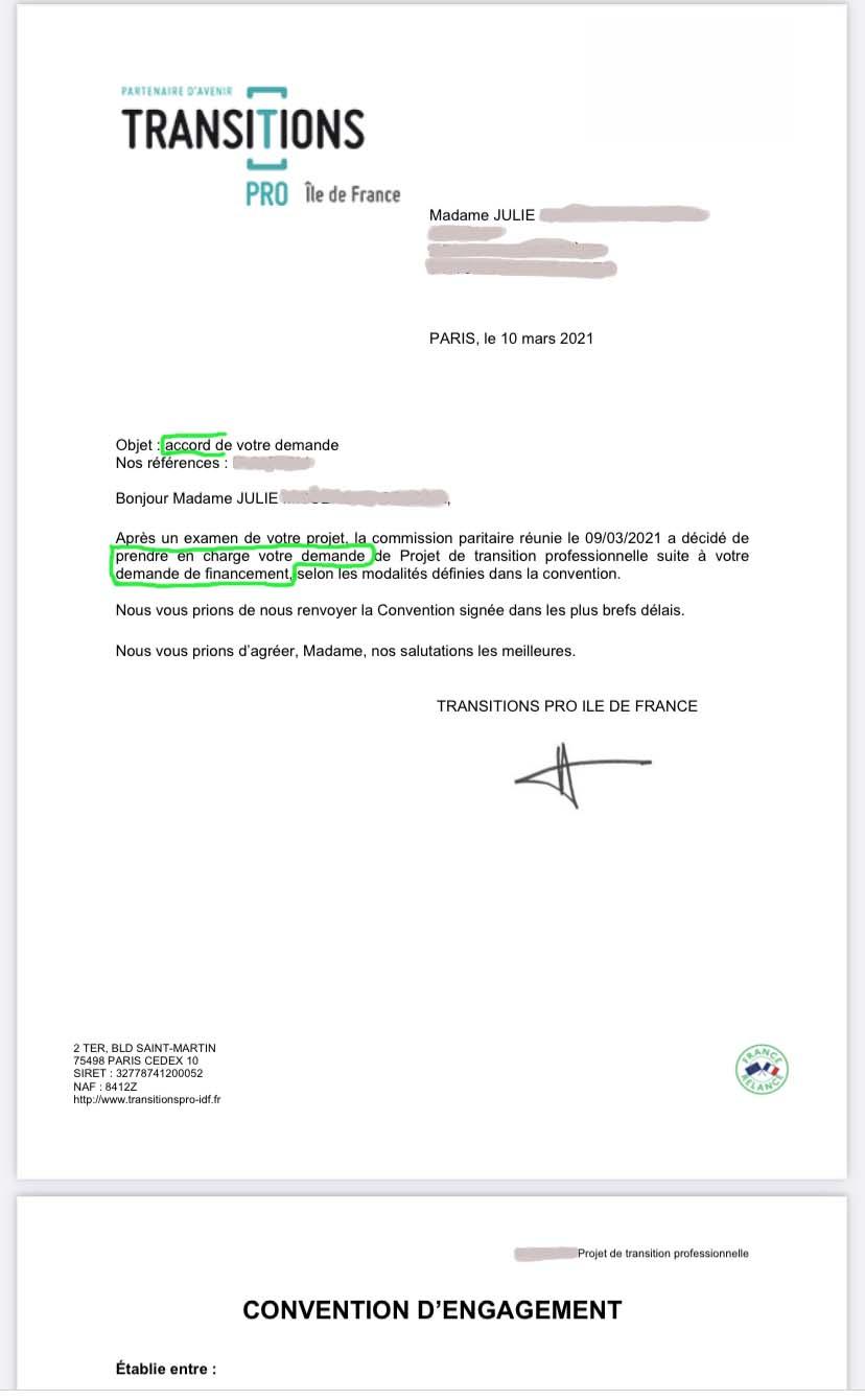 recours dossier cpf transition pro idf  refusé mediation cohérence exemple modèle courriers forum avis ***** motif-exemple de dossier fongecif accepté 2020 2021 rempli financement Que se passe t-il ensuite ?